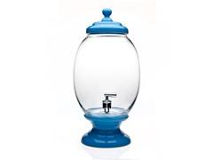 Blue Glass/Porcelain 2.2G. Beverage Dispenser
