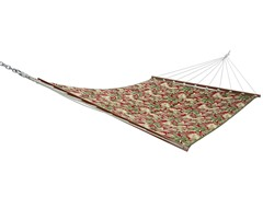 Double Quilted Hammock, Chili Leaves