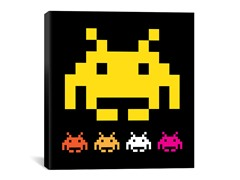Big Yellow Invader 18x18 Thin