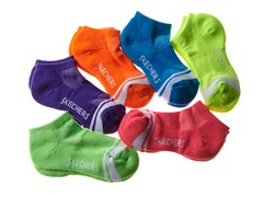6pk Girls Socks - Bright Multi (5-11)