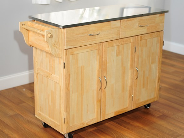 Extra Large Kitchen Cart Stainless Steel Top