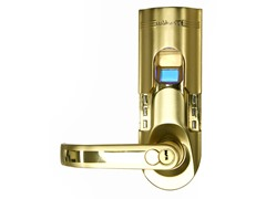 Gold Fingerprint Door Lock Left Handle