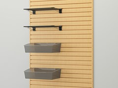 Shelf and Jumbo Hard Bin Combo, Maple