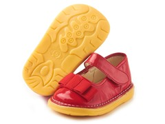 Patent Bow Mary Jane - Red (9-12)