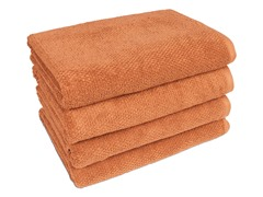 100% Organic Pebble 4-Pack Bath Towels- 3 Colors