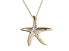14kt Gold & Diamond Starfish Pendant