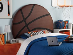 Upholstered Basketball Headboard- Twin