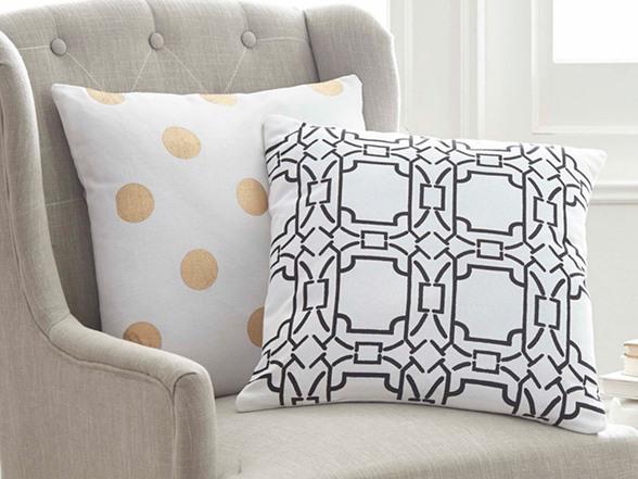 Decorative Pillow Packs : 2-Pack 100% Cotton Decorative Pillows-Contempo Tile