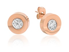 18 kt Rose Gold Plated Stud Earrings