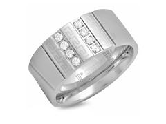 Men's Ring w/ Diamond & Greek Accent