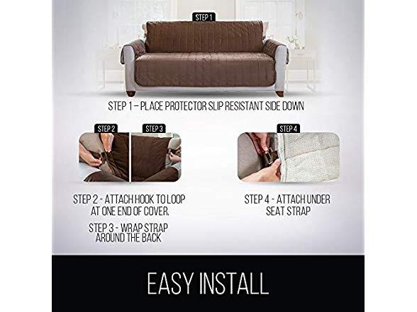 Suede-Like Material, Gorilla Grip Original Slip-Resistant Furniture Protector