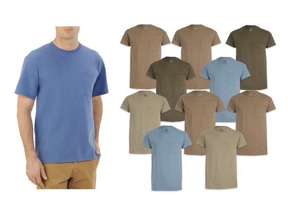10 Pack Fruit of the Loom Men's Pocket T-Shirts