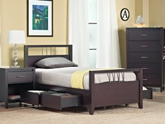 Nevis Full Platform Storage Bed