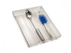 InterDesign Linus Clear Utensil Organizer