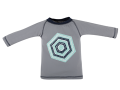 Grey Geo Tiles Rash Guard (3/6M-8Y)
