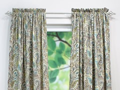Paisley Rod Pocket Curtain Panel - Chocolate - 3 Lengths