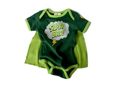 """SuperBad"" Green Bodysuit (6-12 mos)"