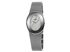 August Steiner AS8053SS Women's Oval Watch - Silver