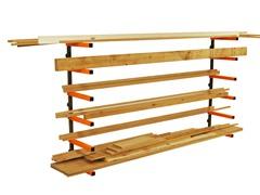 HTC Portamate Wood Storage Lumber Organizer Rack