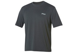 Fila Men's Black Heathered Crew (L)