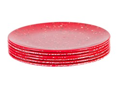 "Red 9"" Salad Plates S/6"