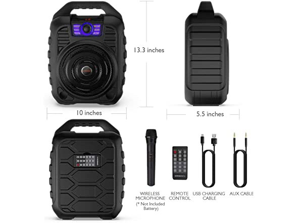 Image of Earise T26 Portable Pa System With Mic
