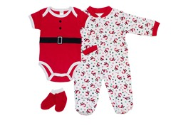 Santa 3-Piece Sleeper Set (0-9M)