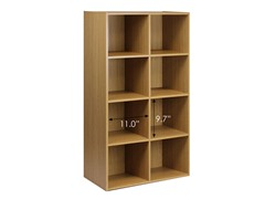 Kuib No Tools 8-Cube Storage Oak