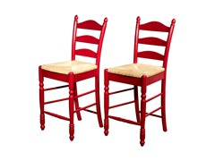 "TMS 24"" Ladderback Stool Set of 2"