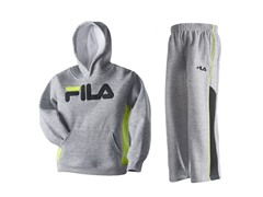 Boys Fleece Set - Logo, Grey (4-7)