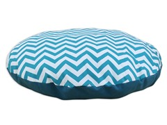 "Zig Zag True Turquoise 36"" Round Pet Bed"