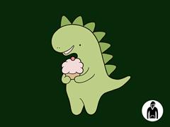 Cupcakeosaur Pullover Hoodie