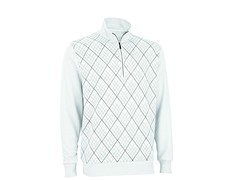 French Terry Print Pullover - White/Pebble