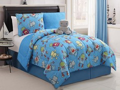 Reversible Bedding Set (Full) - Robot