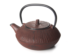 Primula 28oz Cast Iron Teapot-Brown