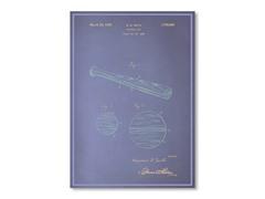 """Blueprints Baseball Bat Poster 18"""" x 24"""""""
