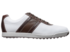 Contour Spikeless Golf Shoe - White/Brown