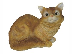 Cat Sitting Down Statue, Yellow