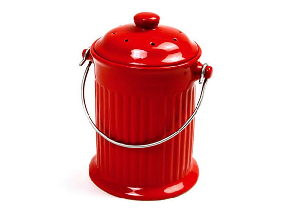 Countertop Compost Pail Red
