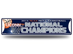 UConn NCAA Champs Street Sign