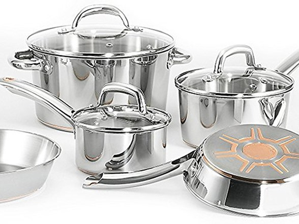 t fal ultimate 13 pc stainless cookware set. Black Bedroom Furniture Sets. Home Design Ideas