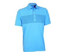Performance Double Knit Golf Shirt-Azure