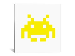 Yellow Invader 18x18 Thin