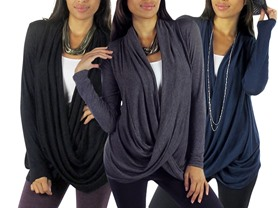 Free to Live 3-Pk Criss Cross Cardigan