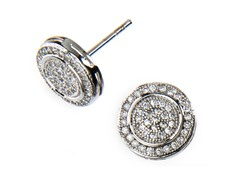 18kt Plated Round CZ Earrings