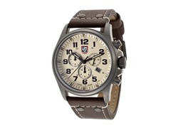 Men's Beige Chronograph w/ Leather Band