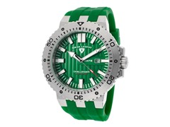 Challenger Watch, Green / Silver