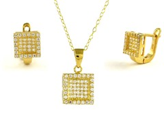 18kt Plated Square Fancy Set
