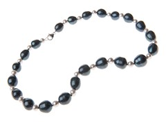 SS Black/Gray Pearl Necklace