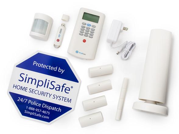simplisafe wireless home security pack. Black Bedroom Furniture Sets. Home Design Ideas